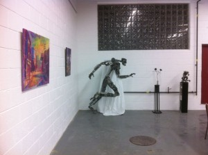 Sprinting Rex at Rebellion Gallery